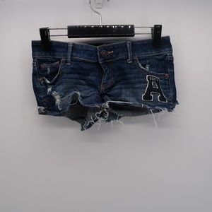 Abercrombie & Fitch Stretch Distressed Jean Shorts